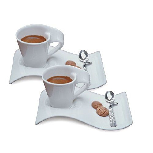 Villeroy Boch New Wave Caffe Espresso Cups Saucers And Spoons Set Espresso Cups Tea Cups Coffee Set