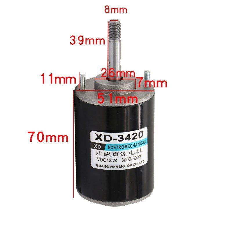 Xd 3420 30w Permanent Magnet Dc Motor 12v 24v 3000 7000rpm Universal Adjustable Xd 3420 Permanent Magnet Motor 12v 24v 3000 70 Permanent Magnet Motor Magnets