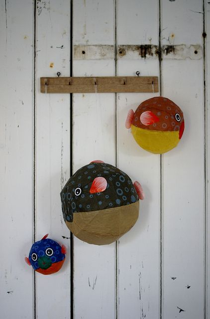 Papier mache - could do these instead of flying ducks