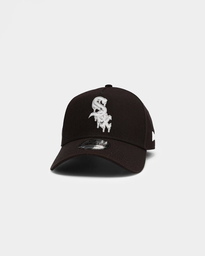 New Era Chicago White Sox Drip Logo 9forty A Frame Snapback Black Drip Logo New Era Chicago White Sox