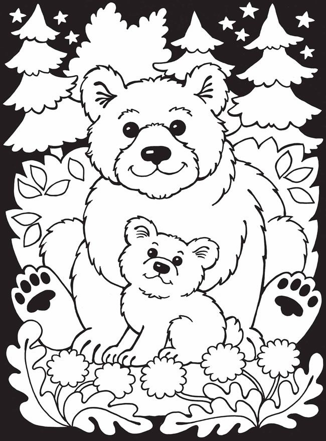Zoo Animals Stained Glass Coloring Book | Dover Coloring Pages ...