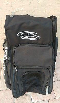 f50dee21000f Boombah Baseball Softball Superpack Bat Gear Batpack Bag Pack Black ...