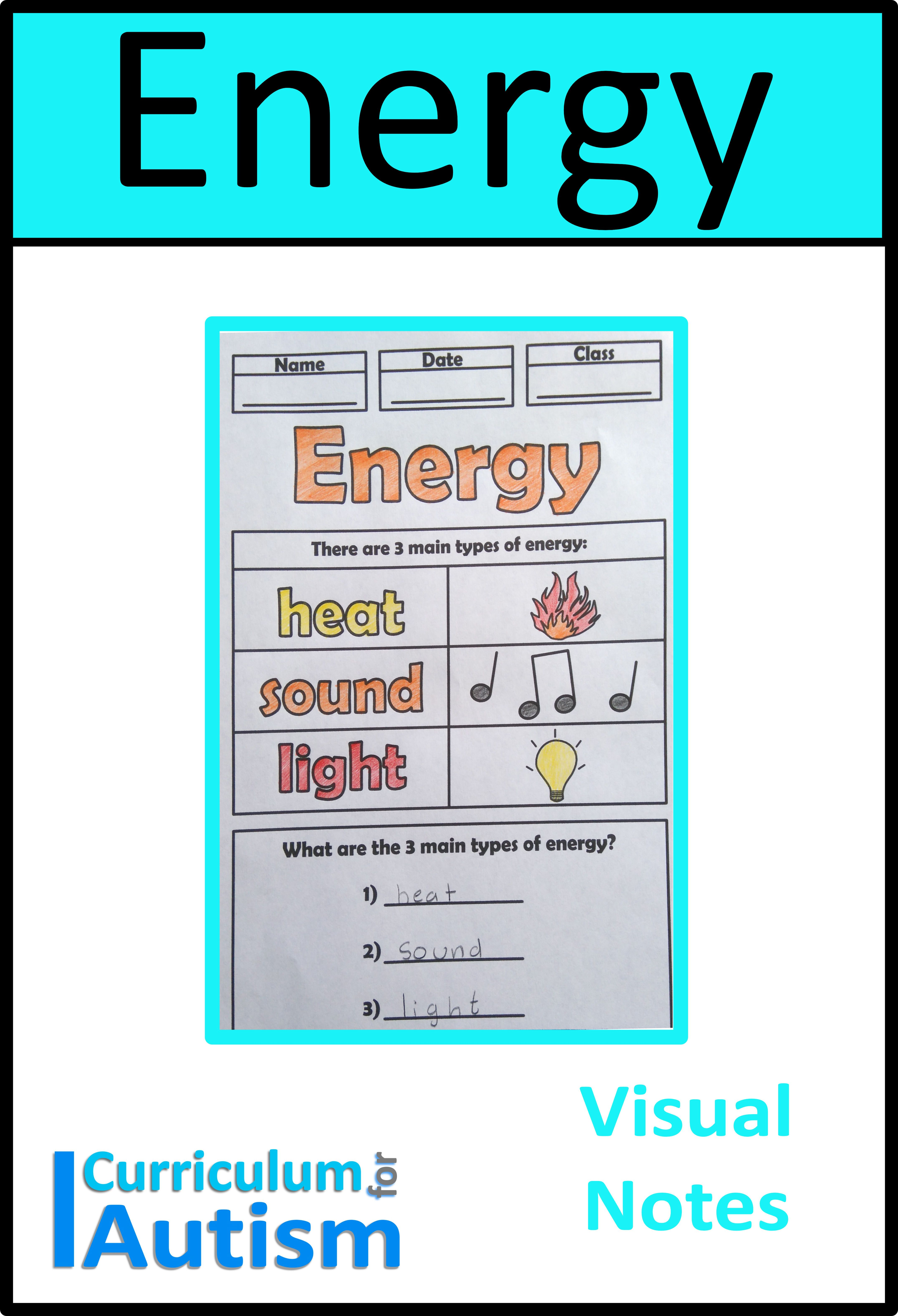 Types Of Energy Visual Science Notes