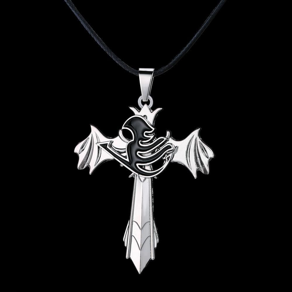 Fairy tail metal cross anime necklace anime necklace