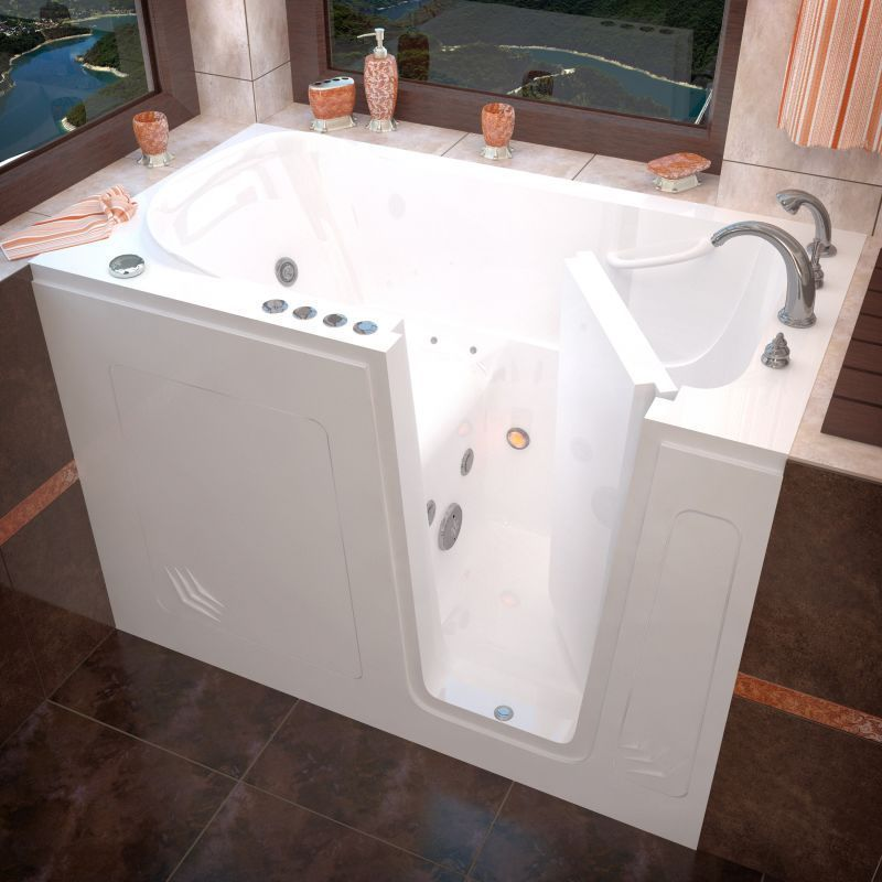Avano Walk In Tubs Acrylic Air / Whirlpool Bathtub For Alcove I White Tub  Air / Whirlpool Alcove