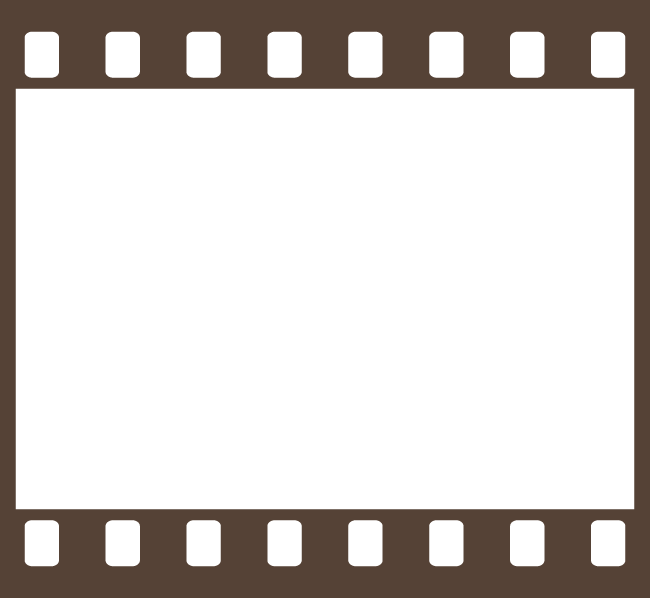 ネガフィルムフレーム 茶色 フィルム イラスト フレーム 画像 フレーム