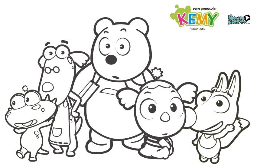 Dibujos Colorear Kemy Serie Dibujitos Animados Pintas Con