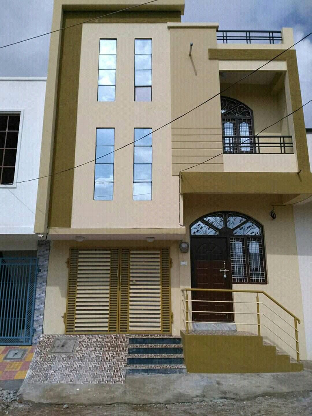 G 1 Duplex 100 Sq Yards House Elevation House Styles House Plans