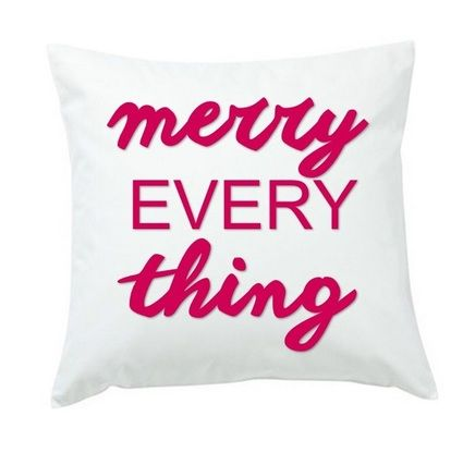 Merry Everything Throw Pillow Or Cover Only Christmas
