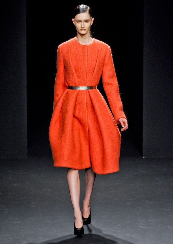 a cashmere coat with a dress Look
