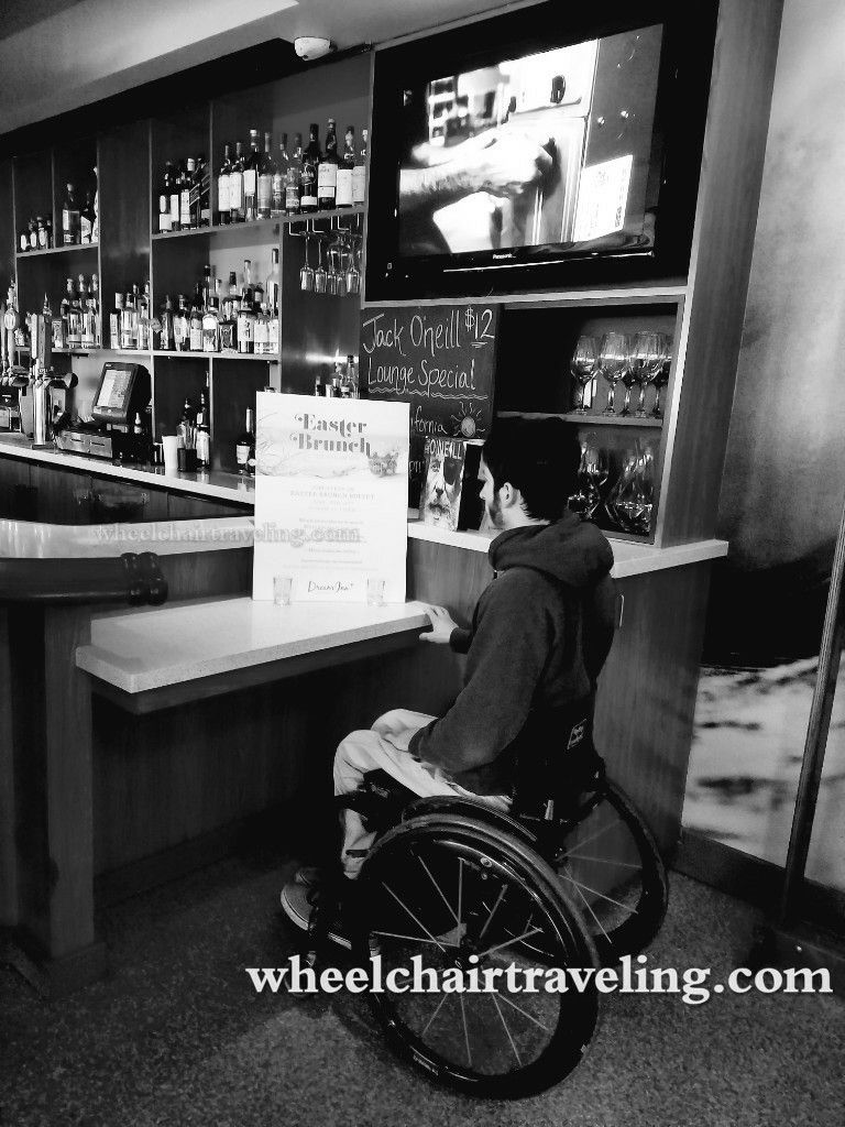 Wheelchair Accessible Bar Design See It Believe It Do It Watch Thousands Of Spinal Cord Injury Videos At Spinalpedi Travel Advice Travel Info Wheelchair