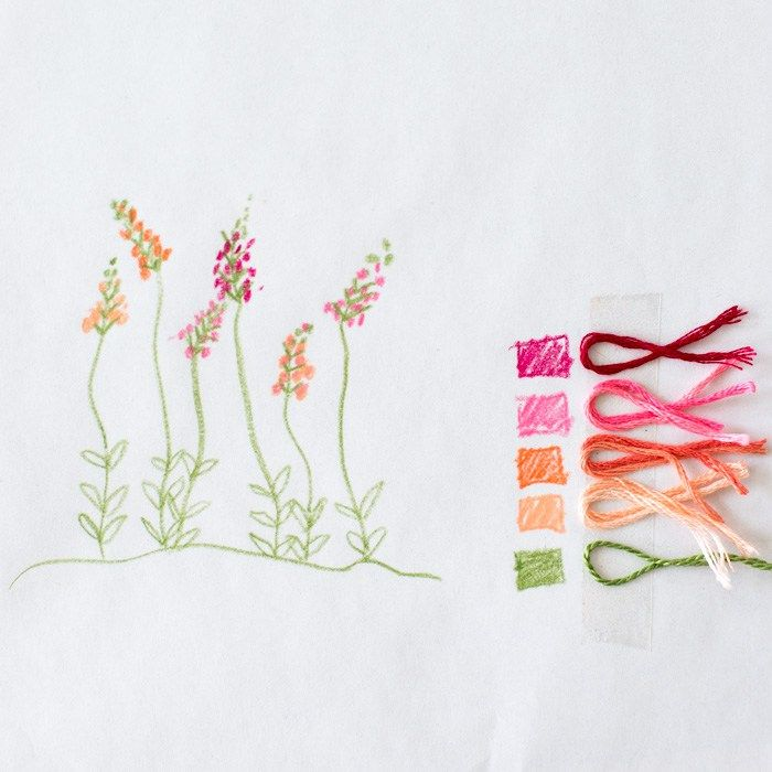 Floral Embroidery Patterns for Dishtowels