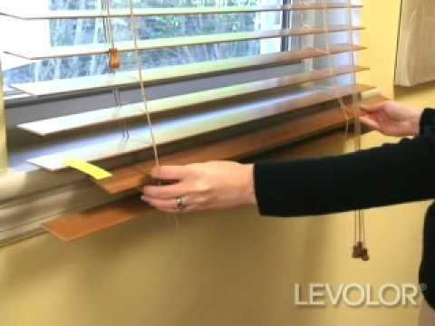 How To Shorten Blinds Video Levolor Wood And Faux Wood Blinds Blinds Com Diy Faux Wood Blinds Wood Blinds Blinds