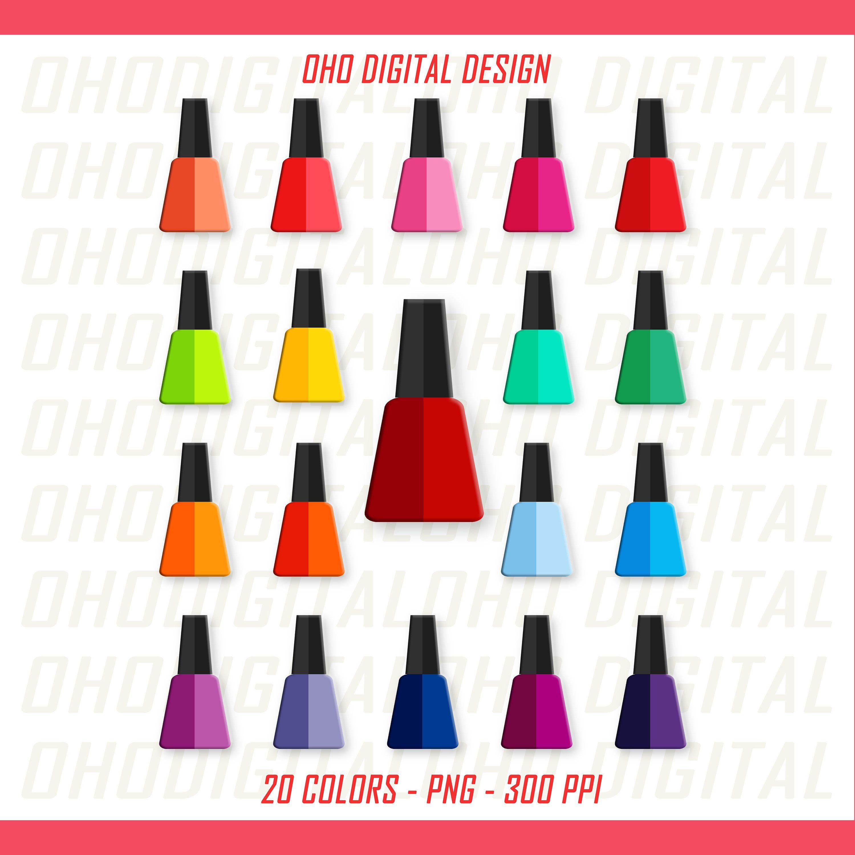 Two Colors Nail Polish Clipartclip Art Nail Polish Manicure