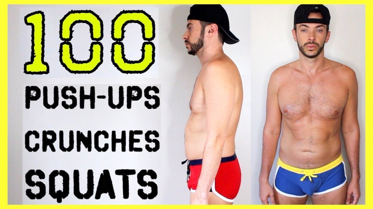 100 Push Ups Crunches Squats Every Day For 30 Days Body Transforma Squats Push Up Get Fit
