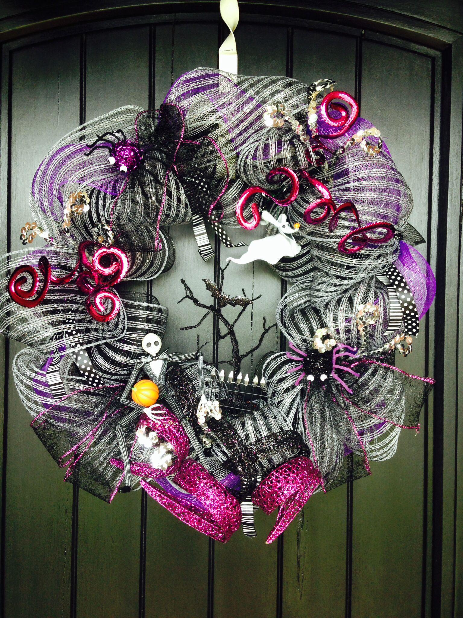 Jack Skellington wreath Nightmare before christmas