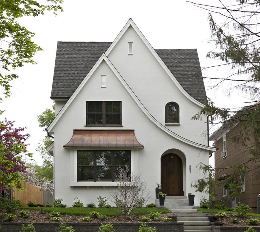 Modern Homes Front And Back: Minneapolis Modern Tudor