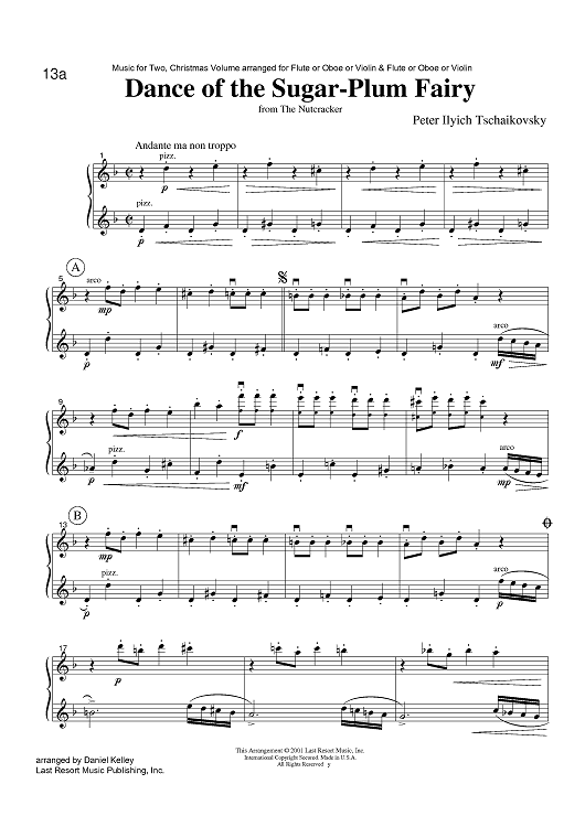 Pictures From the Nutcracker | ... the Sugar-Plum Fairy - from The Nutcracker Sheet Music Preview Page 1