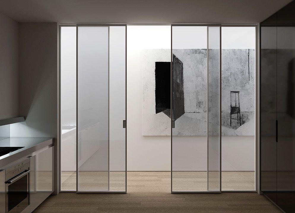 Puertas correderas de cristal 1 deco cocina kitchen - Puertas cocina cristal ...