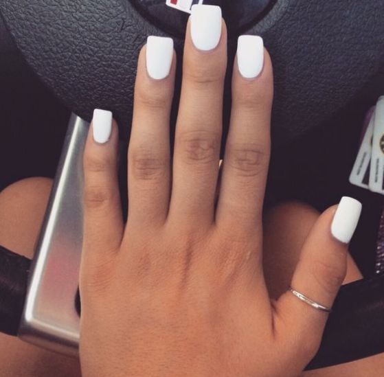 Unas Blancas Decoradas Sencillas Unas Color Blanco Unas De Gel Blancas Manicura De Unas