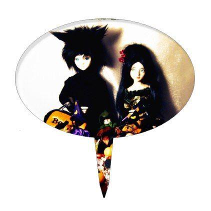 old halloween photo cake topper - halloween decor diy cyo - halloween decorations black cat