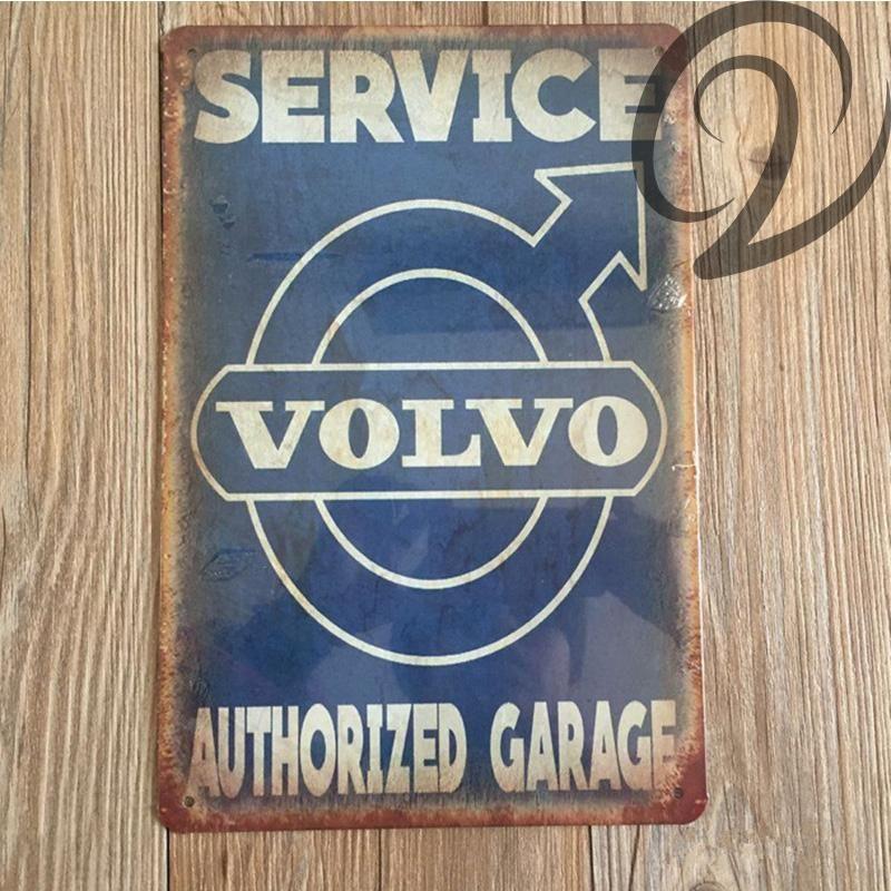 Volvo Sign Volvo Authorized Garage Sign Metal Volvo Sign Tin Volvo Sign Service