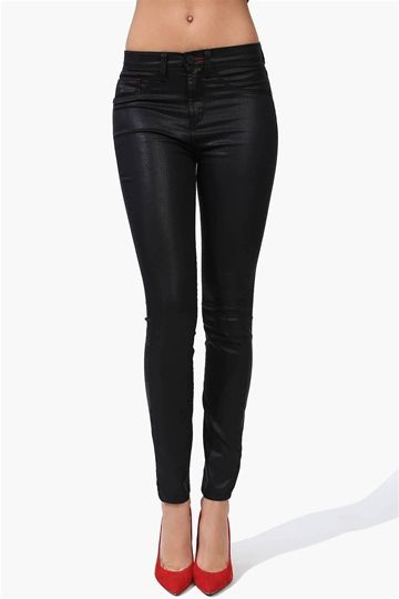 Waxing Pants in Black