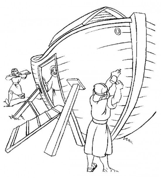 Carpenters Build Noahs Ark 550x607 Jpg 550 607