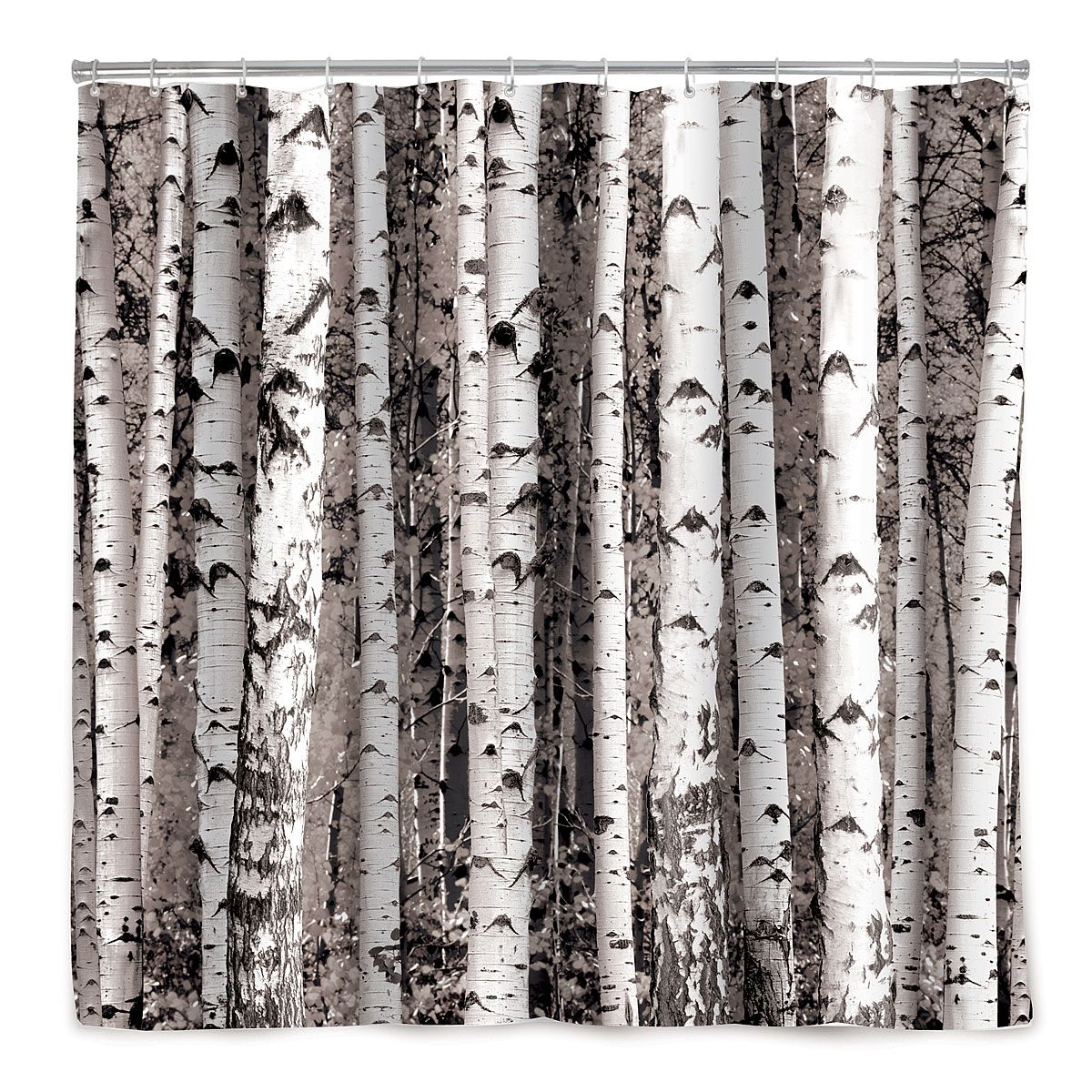 Birch Forest Shower Curtain Rideau Douche Rideaux Bouleau