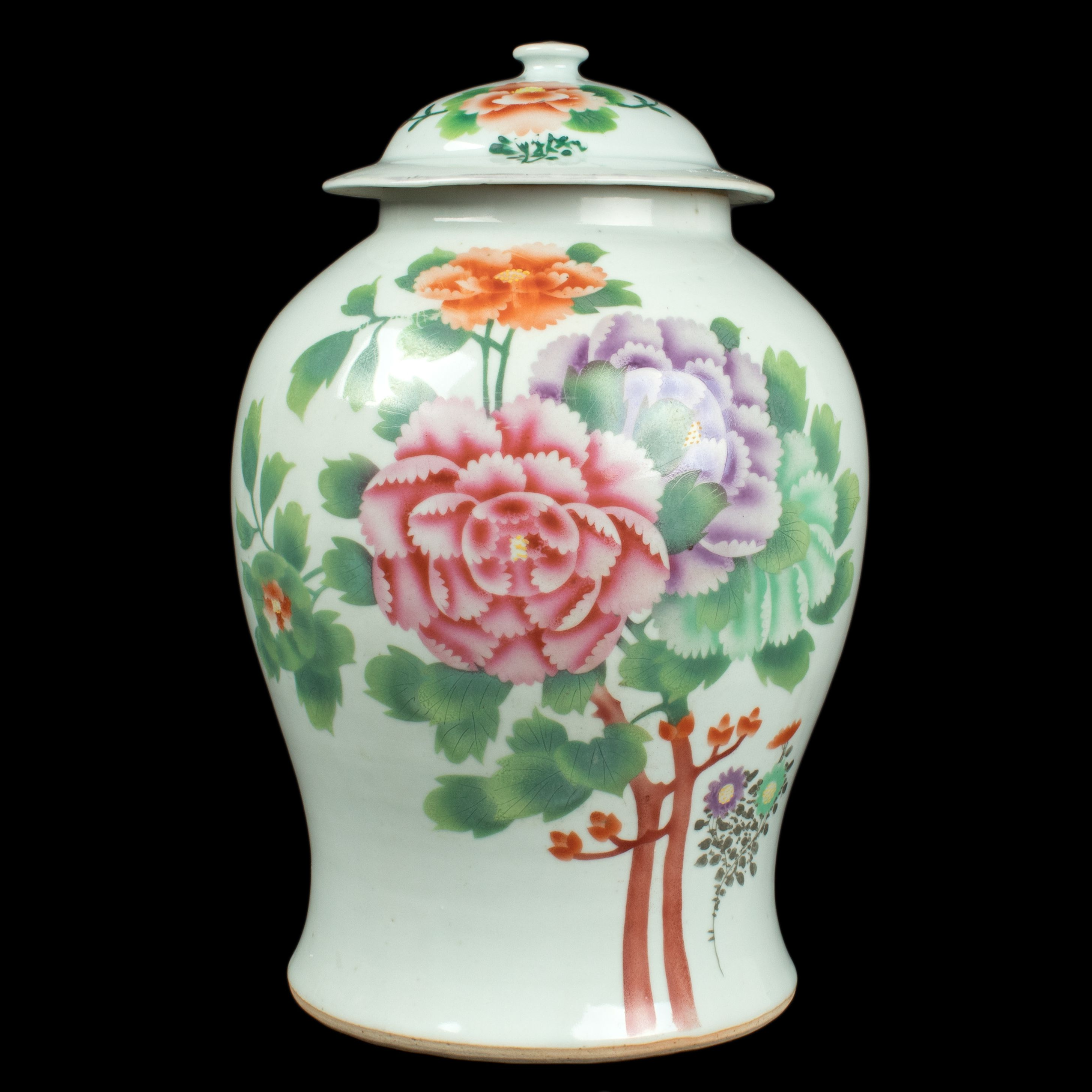 Description a chinese baluster vase cover decorated on one side deckelvase a chinese baluster vase cover chinois vaso cinese reviewsmspy