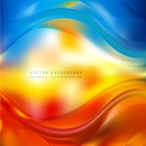 Blue Red Yellow Wave Design Background Wave Design Free