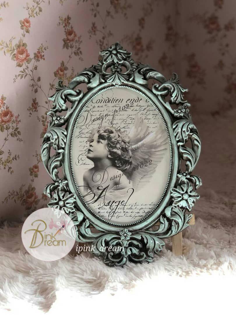 إطار إطارات لوحة لوحات برواز تعتيق ديكوباج Frame Decoration Decoupage Hand Made Antique Decorative Plates Frame Decor