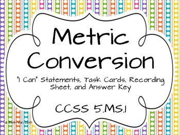 metric system charts printables | Metric Mania - Metric ...