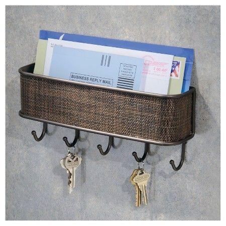 Interdesign Twillo Wall Mount Mail Key Rack Target Key Rack Mail Organizer Wall Key And Letter Holder