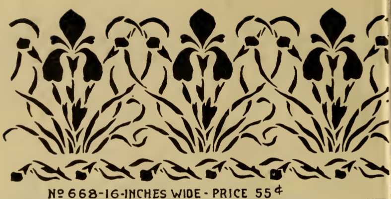 Bearded Iris frieze border stencil from Stencil Catalog, published ...