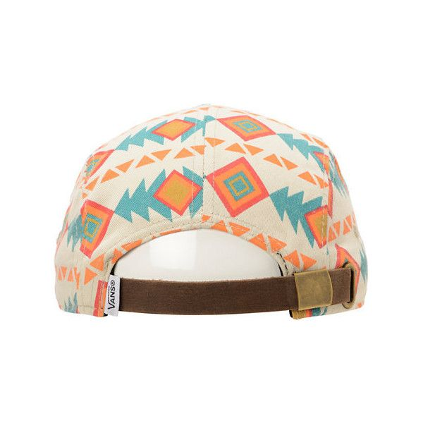 1b473a587b3 Vans Khaki Native Print 5 Panel Hat ( 28) ❤ liked on Polyvore featuring  accessories