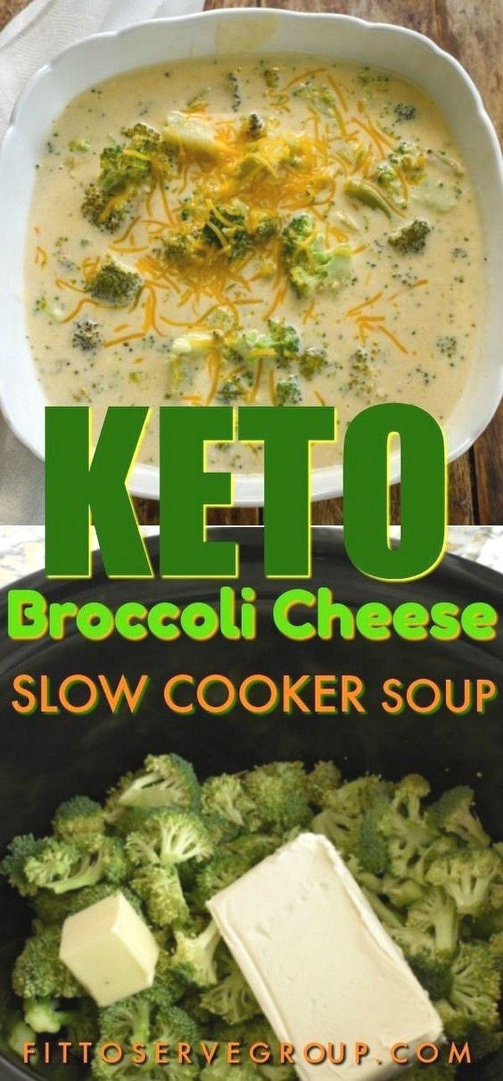 Keto Broccoli Cheese Slow Cooker Soup | Keto Recipes images