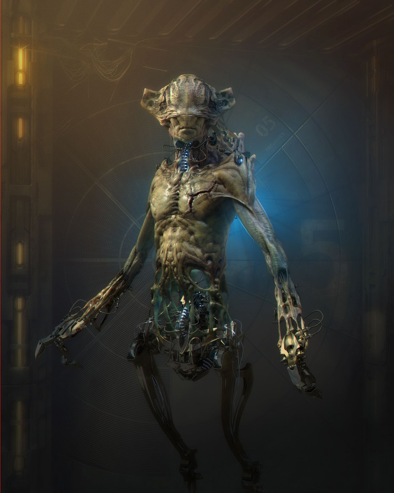 Alien By Tomycurti Creatures 3d Cgsociety Creature 3d