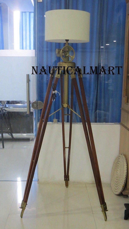 Nautical Royal Marine Tripod Floor Lamp By NauticalMart: Amazon.it ...