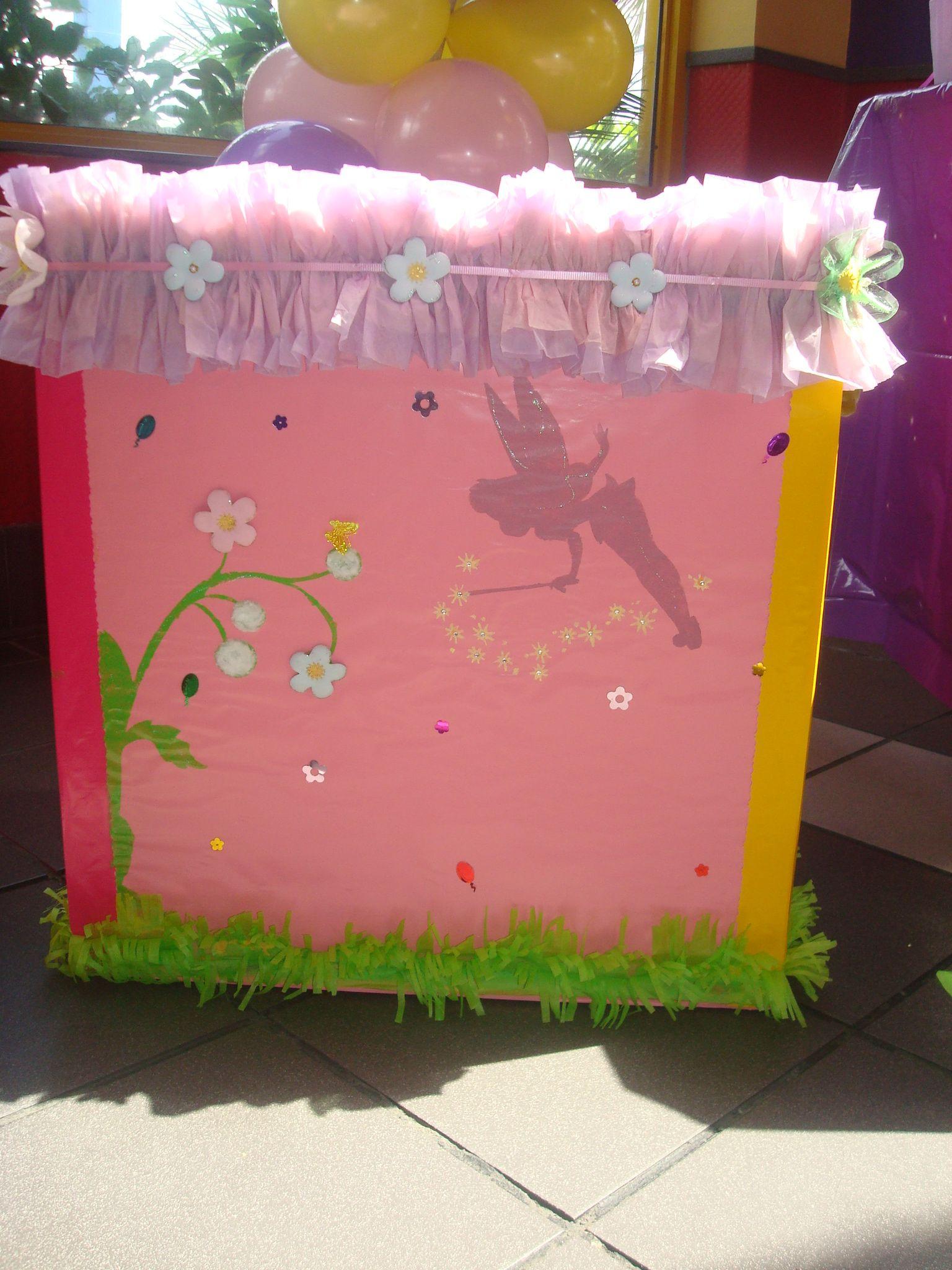 Caja para regalos tinkerbell pintura caja de regalos - Regalos invitados cumpleanos infantiles ...