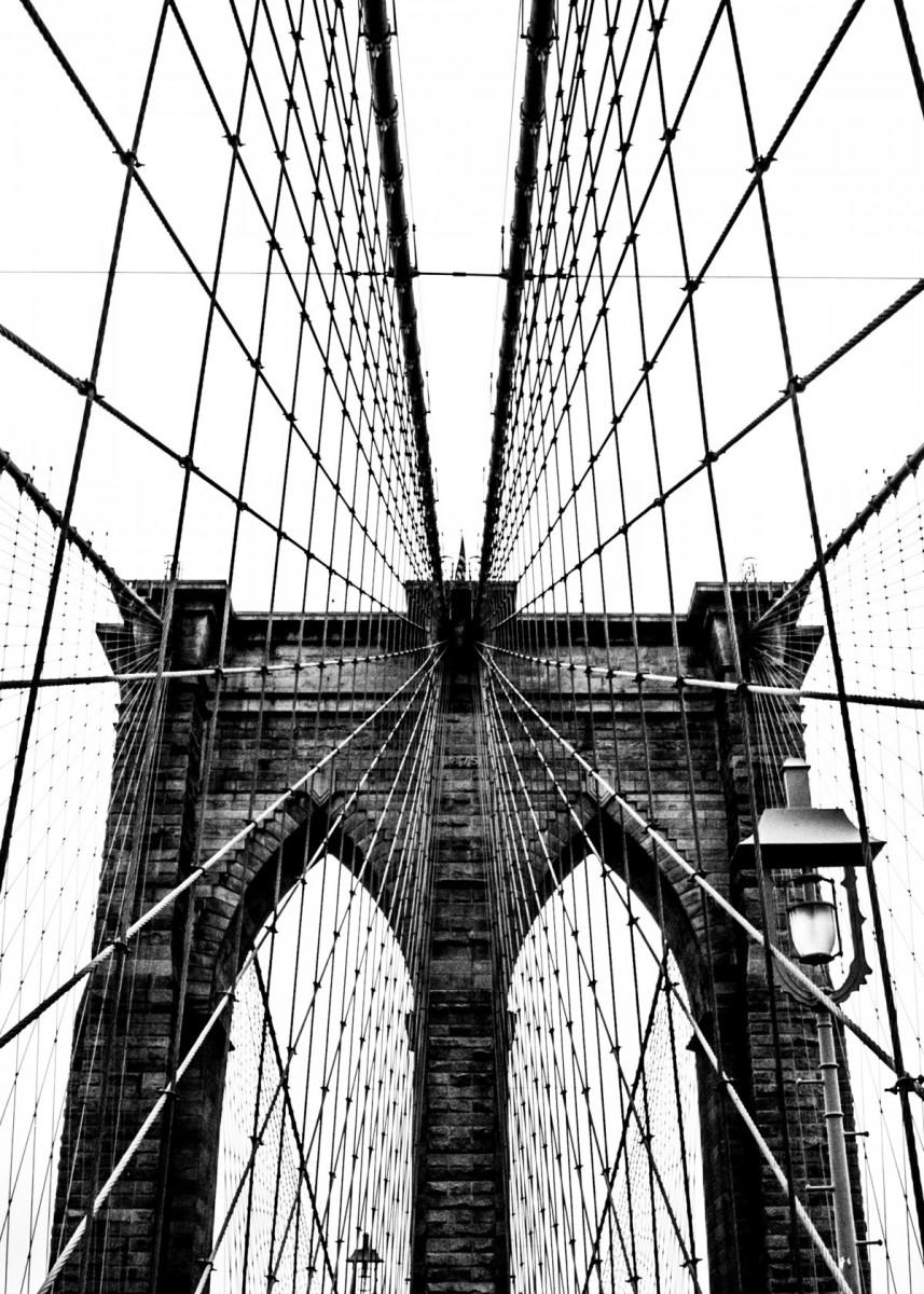 Brooklyn Bridge Web V Poster Art Print By Nicklas Gustafsson Displate In 2021 Brooklyn Bridge New York City Images Bridge Photography