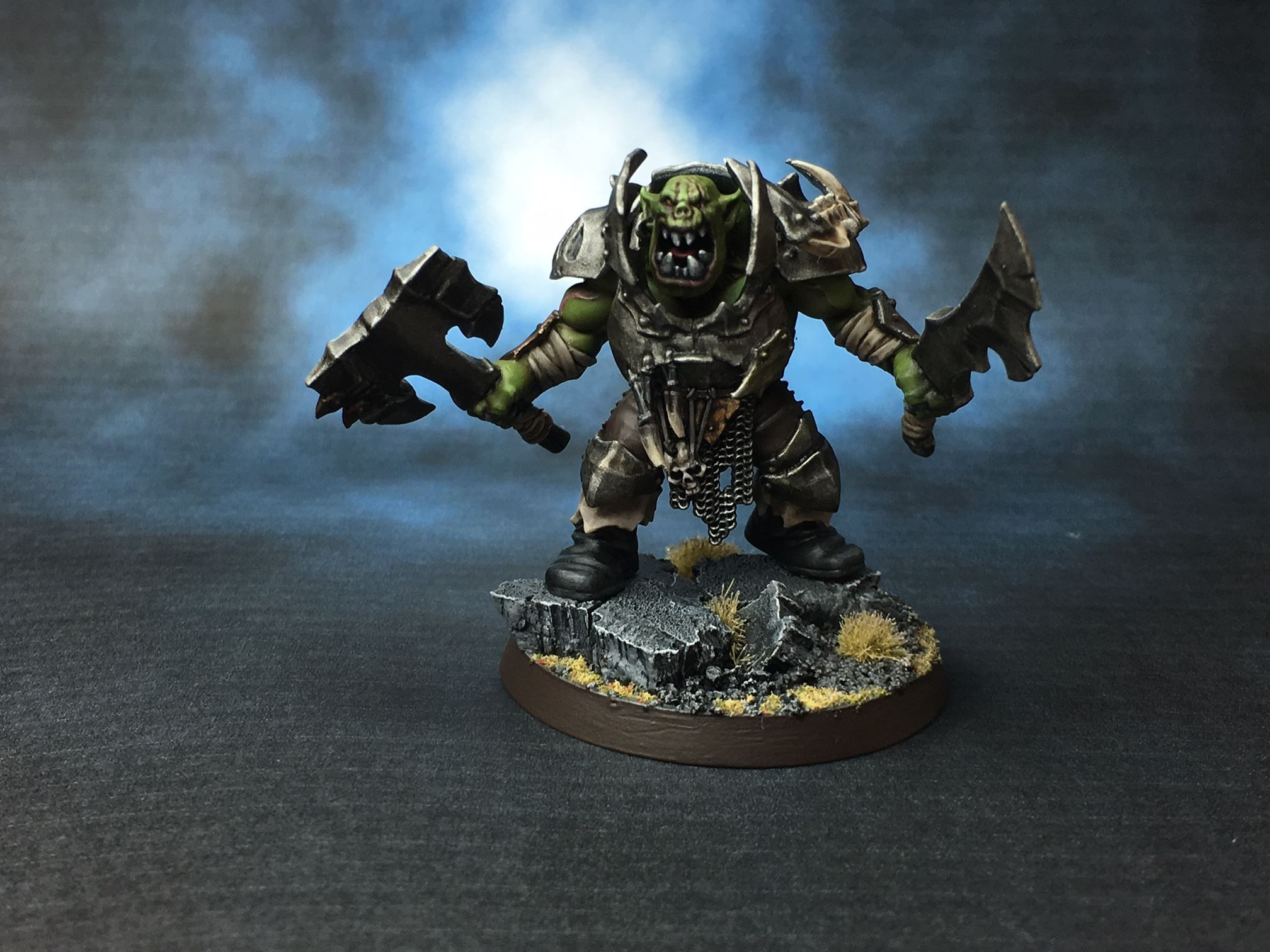 Orc Brute by Wes Adie‎ of Age of Sigmar Fan Group