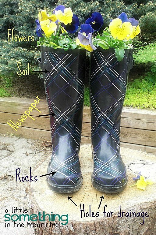 Adorable Rain Boot Planter Ideas Rain Boots Amazing Gardens