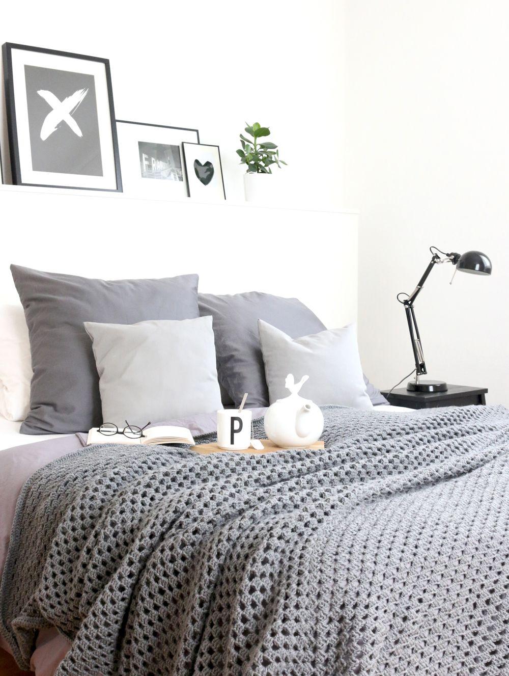 Diy Haekeldecke 4 Small Haken Pinterest Bett Deckchen Und Kissen