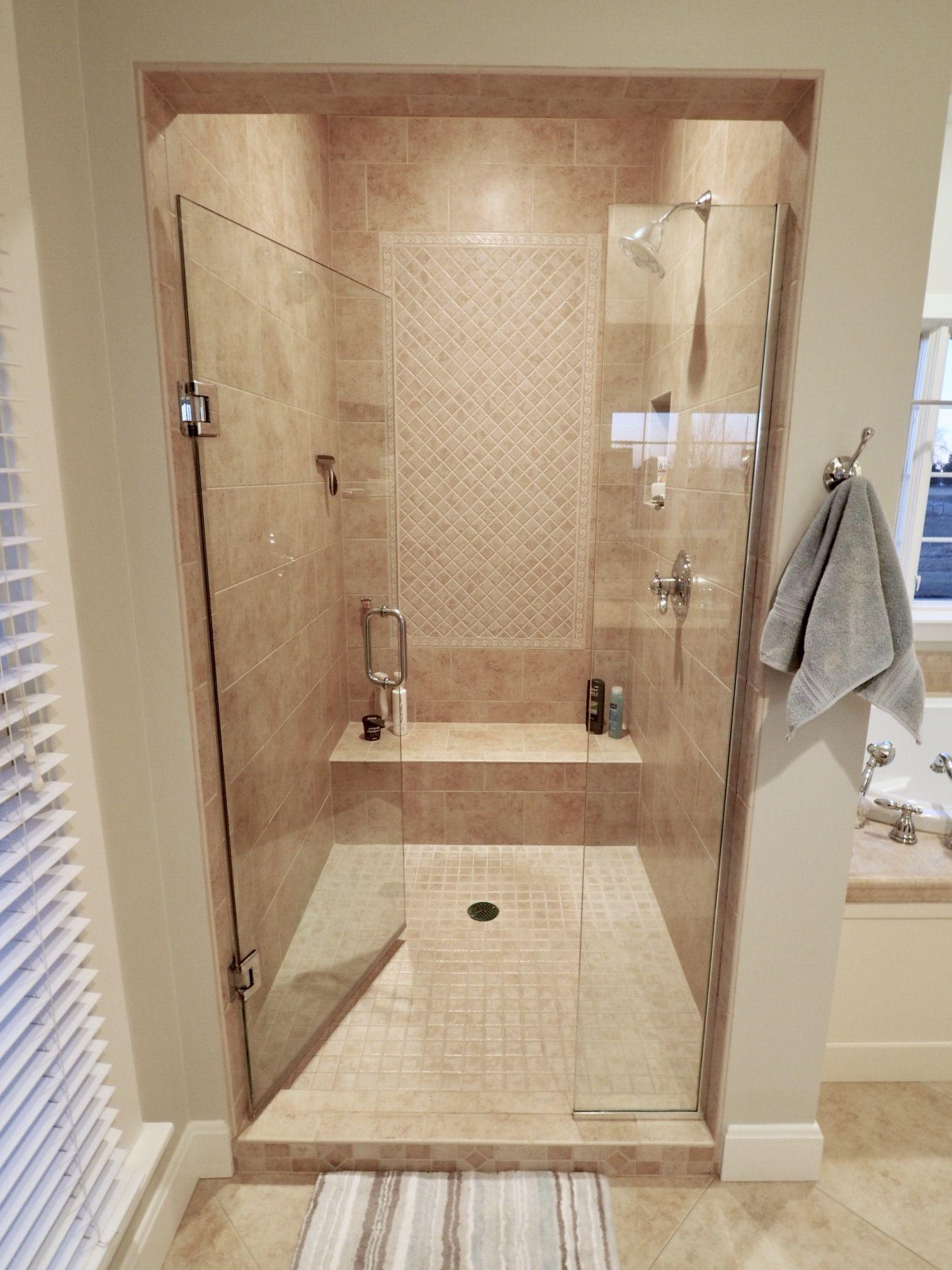 Shower Design Walk In Shower Ceramic Tile Shower Dal Tile