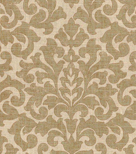 Gold Damask Fabric Upholstery Fabric Metallic Drapery Fabric