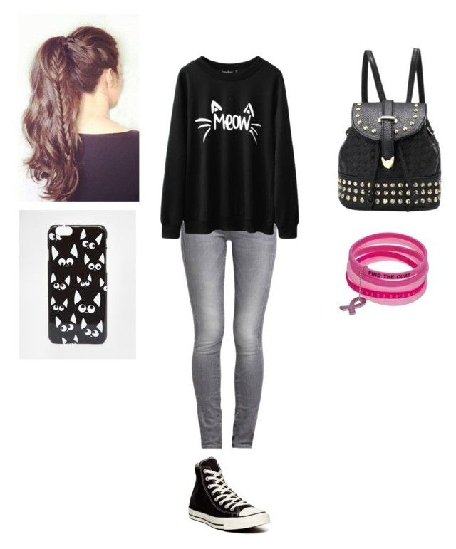 """""""Untitled #164"""" by katelynrodriguez845 ❤ liked on Polyvore featuring beauty, GUESS, Converse and ASOS"""