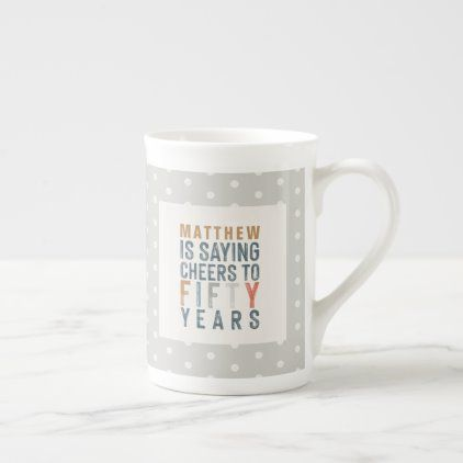 50th birthday party decor or birthday gift bone china mug | Zazzle.com #moms50thbirthday