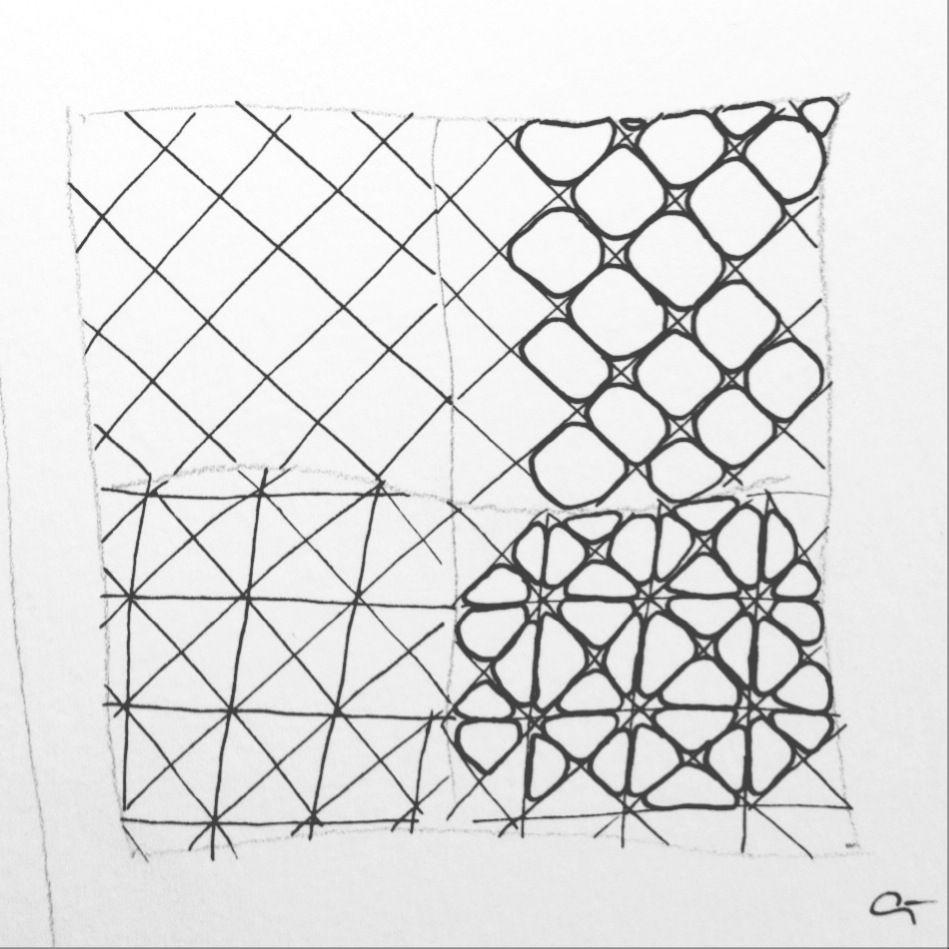 Tangle: `Nzeppel Variationen| Freude mit Zentangle | Zentangle ...