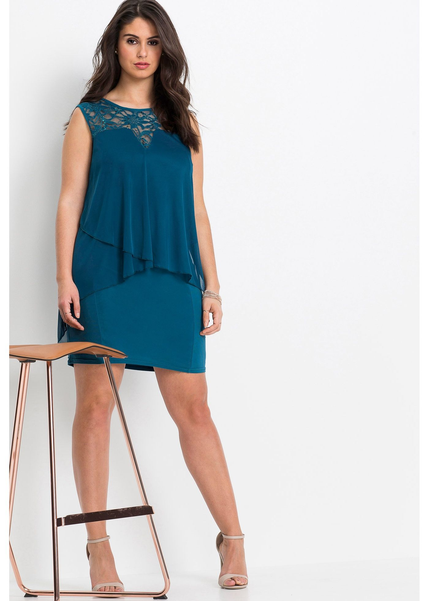 Kleid mit Pailletten vintagerosa - BODYFLIRT jetzt im Online Shop ...